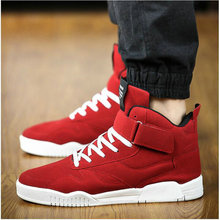 New M Trainers canvas Shoes Men sneaker Zapatillas Hombre Black Red Casual High Top Sport Walking Lace Up Ankle Boots LE-100