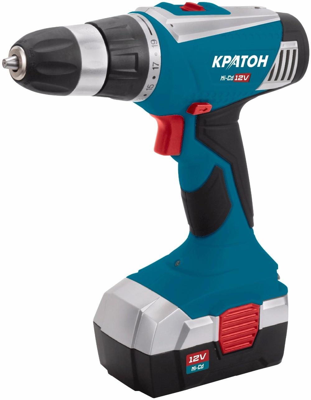 цена Drill-screwdriver rechargeable Kraton CD-12-K онлайн в 2017 году