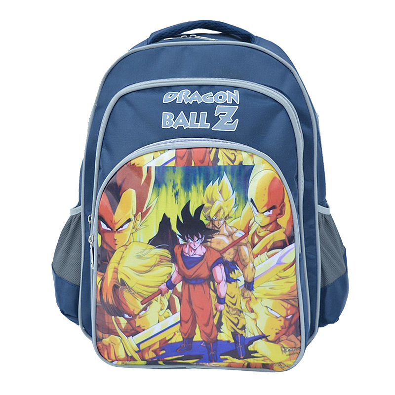 Anime Dragon Ball Z Backpack Robocar <font><b>Sayajins</b></font> Children Schoolbag Boys Girls Mochila School Bag Cartoon Bookbag image