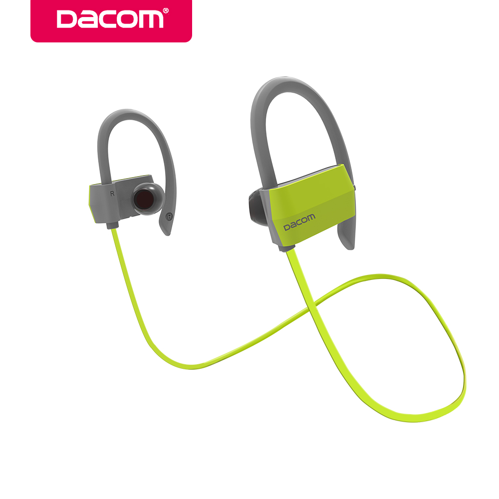 DACOM G18 Wireless Bluetooth Headset Stereo Sports Music Earphone Headphones with Mic Ear Hook Earbuds for iPhone 6 6s 7 Samsung 100% original bluetooth headset wireless headphones with mic for blackview bv6000 earbuds