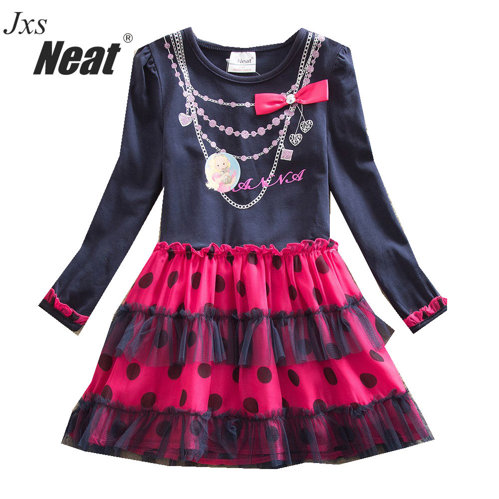 c5231031ae91 Baby Girls šaty s dlouhým rukávem šaty šifón móda dívky strana ...