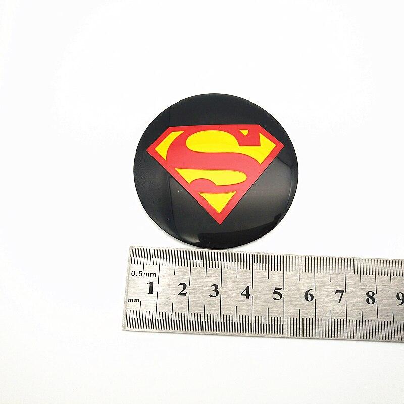 FDIK 4pcs 56 5mm superman logo aluminum car emblem Wheel Center Hub sticker Rim badge For mercedes bmw vw audi car styling in Car Stickers from Automobiles Motorcycles