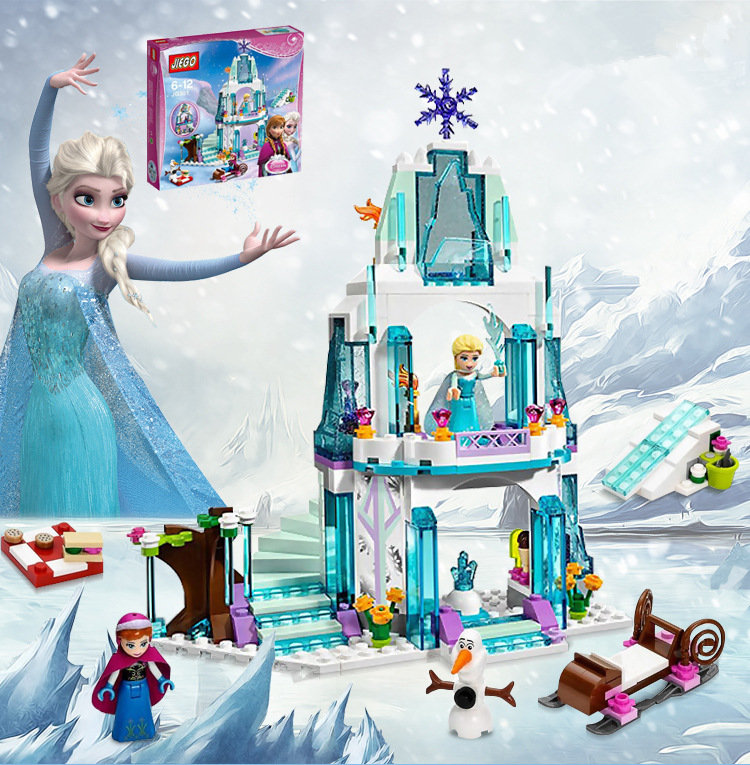 New 316pcs Friends Series Elsa Ice Castle Princess Anna Building Blocks Andrea Toy Compatible with LegoINGly Friends
