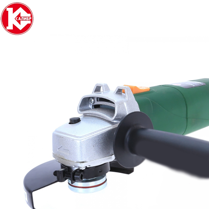 Kalibr MSHU-125E electric angle grinder level speed adjustment long handle cutting polishing sanding grinding wax kalibr mshu 125 1055 angle grinder grinding machine metal polisher angular power tool metal and wood cutting sanding polishing