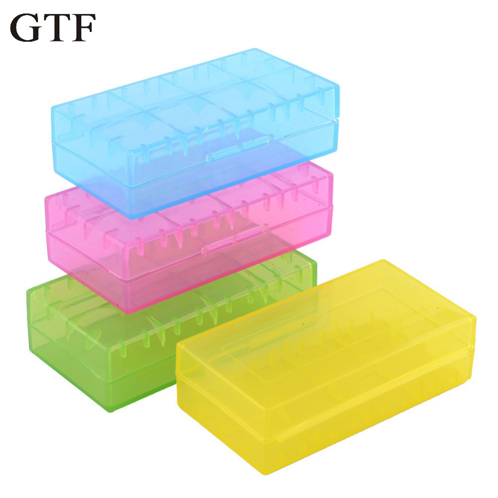 GTF 18650 CR123A 16340 Battery Case Holder Box Storage Color Optional Blue/Purple/White/Green/Yellow/Orange