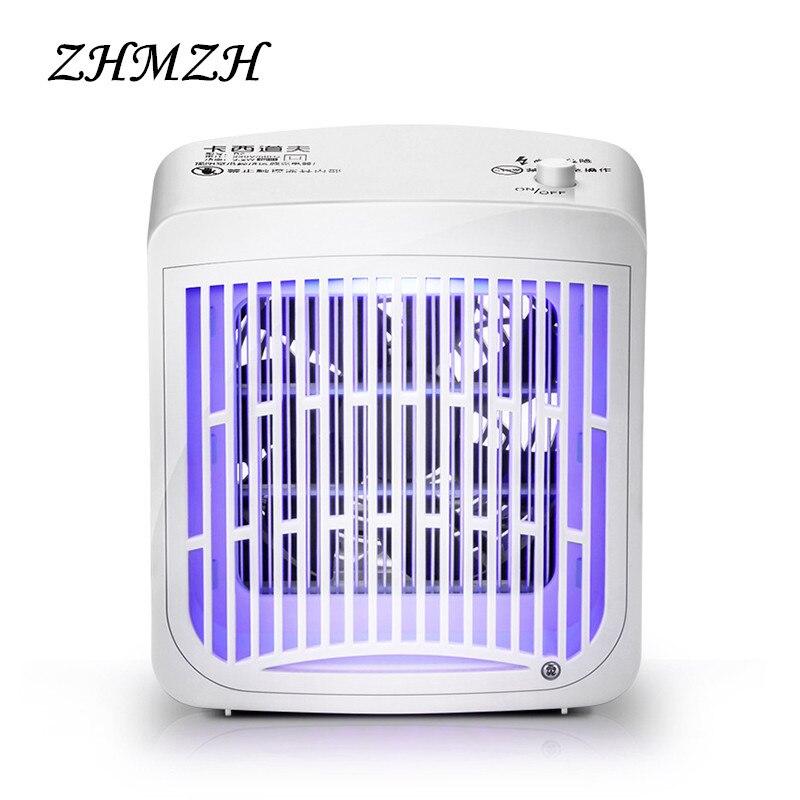 LED choque eléctrico Mosquito asesino lámpara 220 V pulgas insectos Mosquitos repelente 3,2 W Mosquito trampa Anti luces UVA Zapper interior