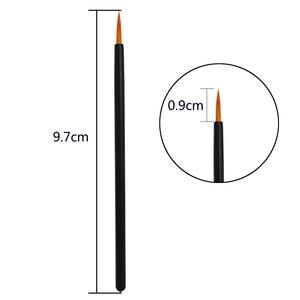 Image 5 - 100pcs Disposable Eyeliner Brushes Individual Applicator Superfine Fibre Swab Eye Liner Liquid Wand Eye Liner Professional Brush