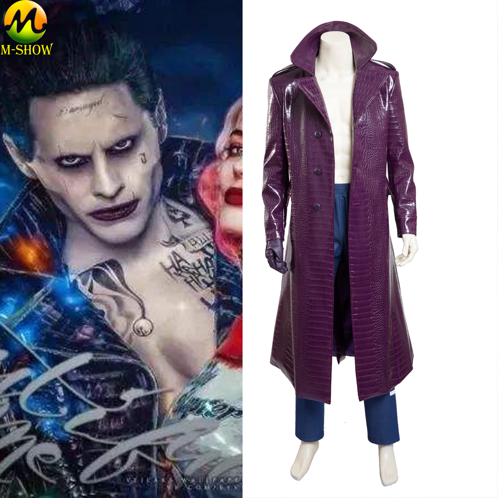 Suicide Squad Joker Halloween Costume.Us 46 87 17 Off Free Shipping Suicide Squad Joker Cosplay Costume Jared Leto Leather Full Set Halloween Costumes For Men Custom Made In Movie Tv