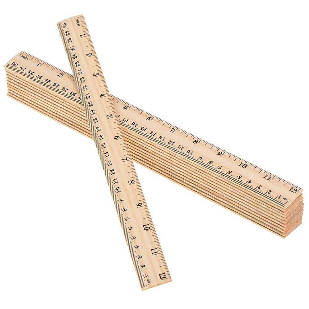 Log Stationery 15cm 20cm 30cm Wooden Ruler Learning&office Stationery Ruler Metric Rule Precision Double Sided Measuring Tool