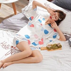 Image 5 - BZELฤดูร้อนขายร้อนชุดนอนชุดสำหรับMujer Vคอแขนสั้นชุดนอนผ้าฝ้ายKawaiiผู้หญิงNightyการ์ตูนสีDotชุดชั้นใน