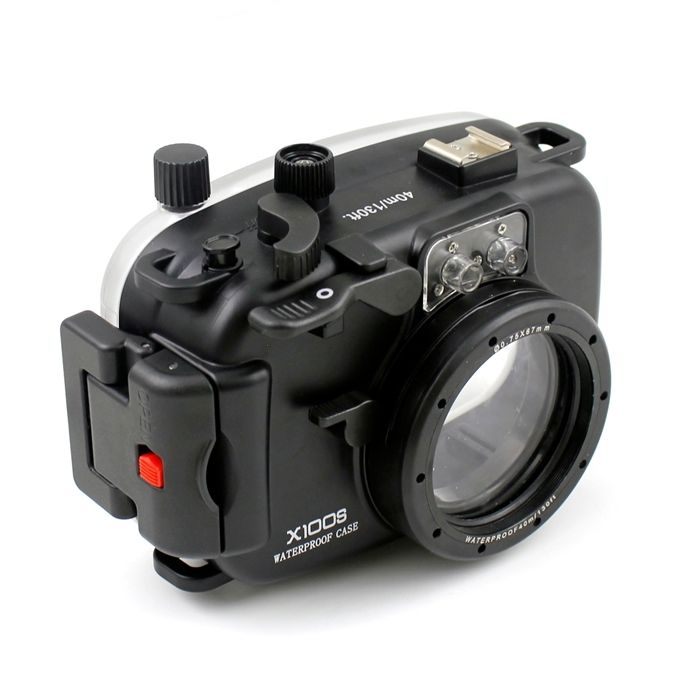 Funda impermeable para cámara Meikon 40m para Fujifilm X100S-in Bolsos para cámara/vídeo from Productos electrónicos    1