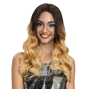 """MAGIC Synthetic Lace Front Wigs For Black Women Loose Wavy Medium Length 20"""" Afro Lace Wig Synthetic Hair Heat Resistant Fiber"""