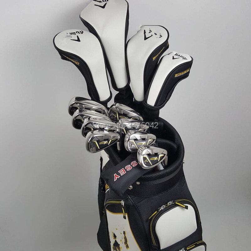 цена на Golf clubs calla warbird 5 full set of tee driver+fairway wood2+Hybrid+irons 8 piece+putter beginner sets of poles free shipping
