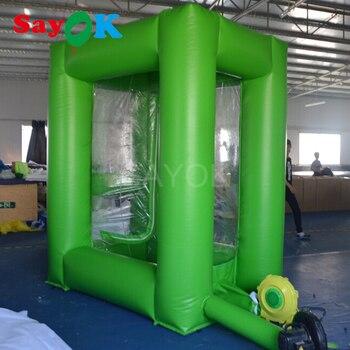 Sayok PVC نفخ النقدية مكعب المال انتزاع آلة بوث مع الهواء منفاخ للدعاية الحدث تعزيز