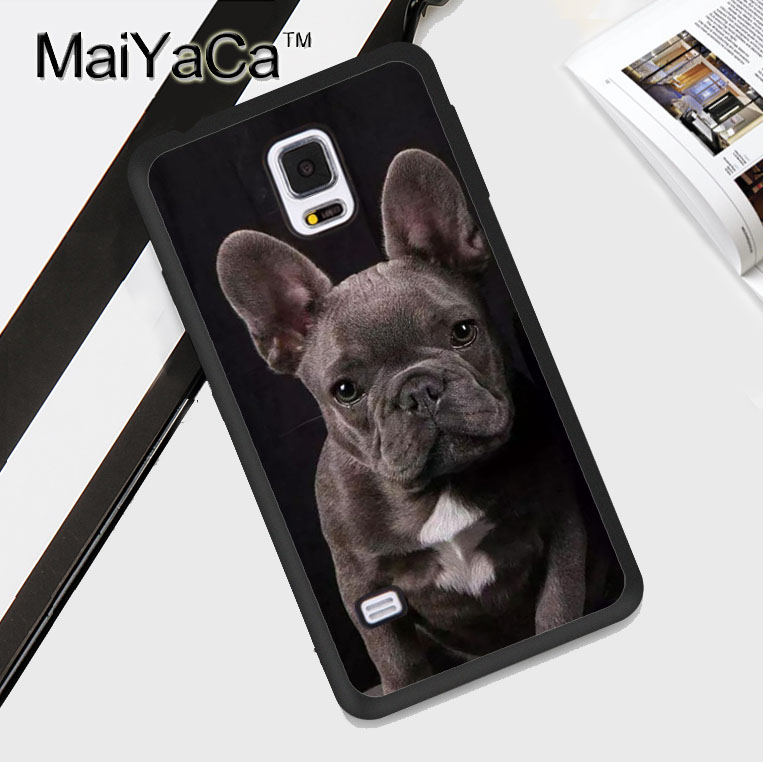 MaiYaCa French Bulldog Grey Puppy Dog Soft TPU Phone Case For Samsung S4 S5 S6 S7 edge S8 S9 plus Note 8 Note 4 Note5 Cover Skin