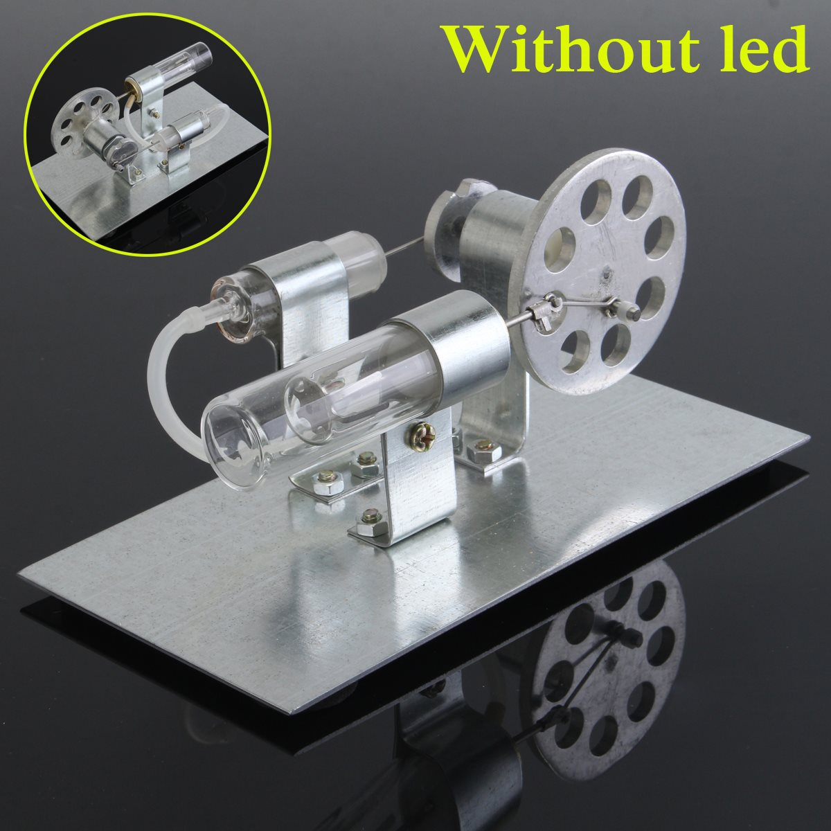 DIY Stirling Engine Hot Air Model Mini Motor Model Steam Powered Physics Educational Toy School Laboratory Supplies spacerail diy physics space ball rollercoaster with powered elevator 26000mm rail