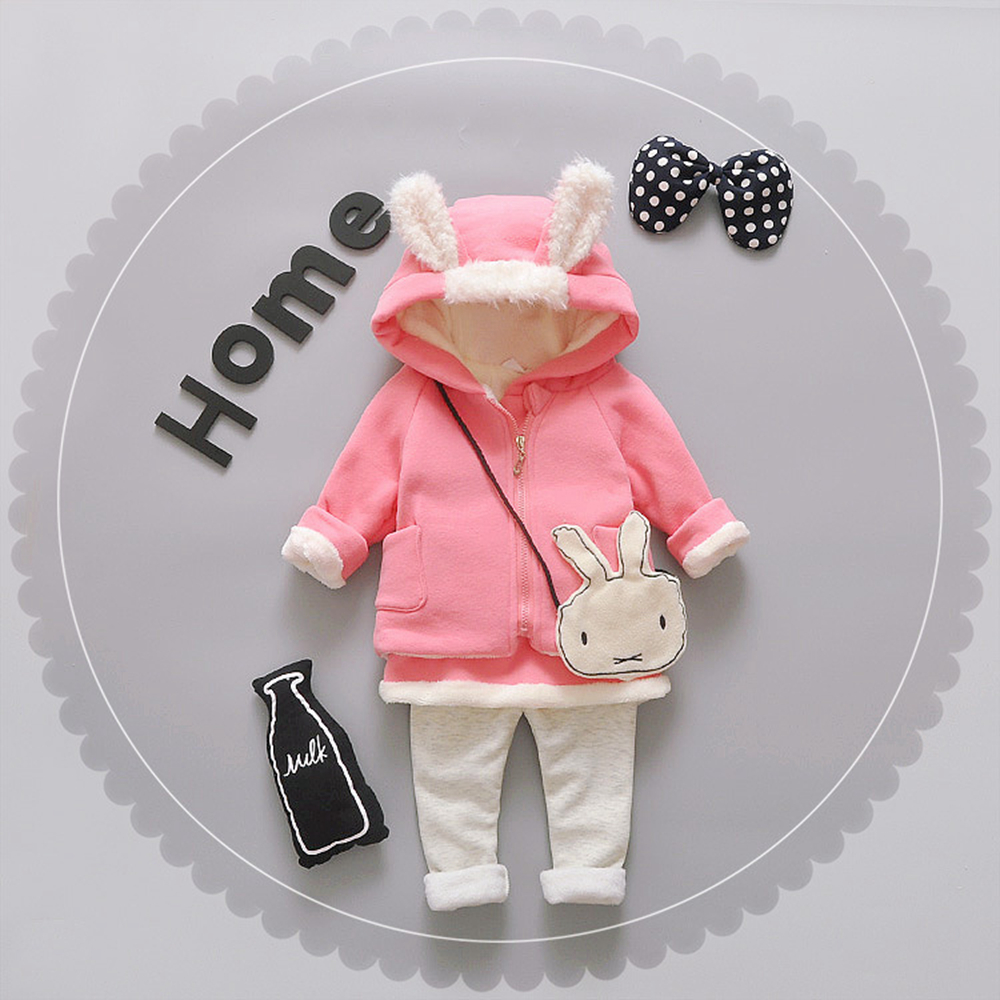 Children 's clothing autumn and winter baby cartoon cashmere two sets of Korean version of the winter girl 's thickenin  535