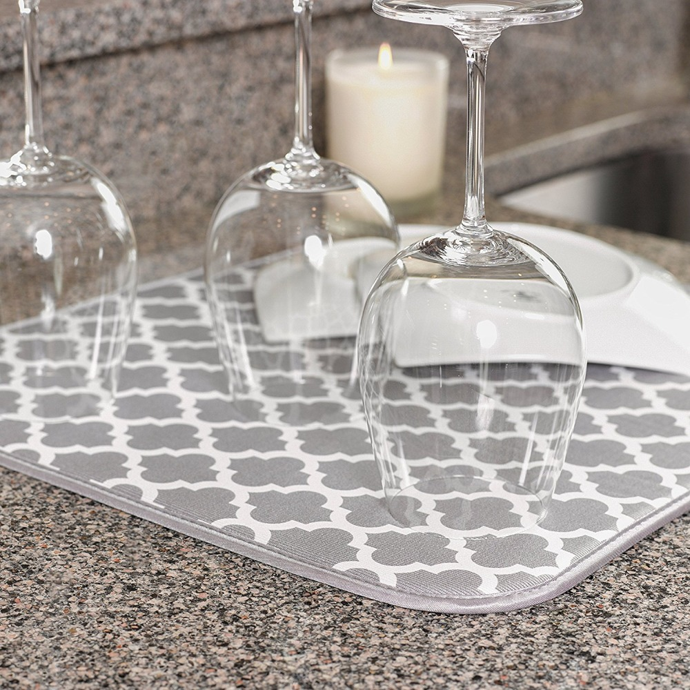 Microfiber Dish Drying Mat Placemat For Kitchen Dishes