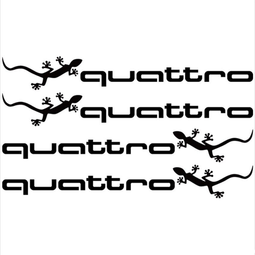 2*13cm Car Sports Stickers Quattro Doorhandle Decals Styling Logo For Audi A1 A3 A4 A5 A6 A7 A8 Q3 Q5 Q7 S3 S4 S5 S6 S7 S8 TT