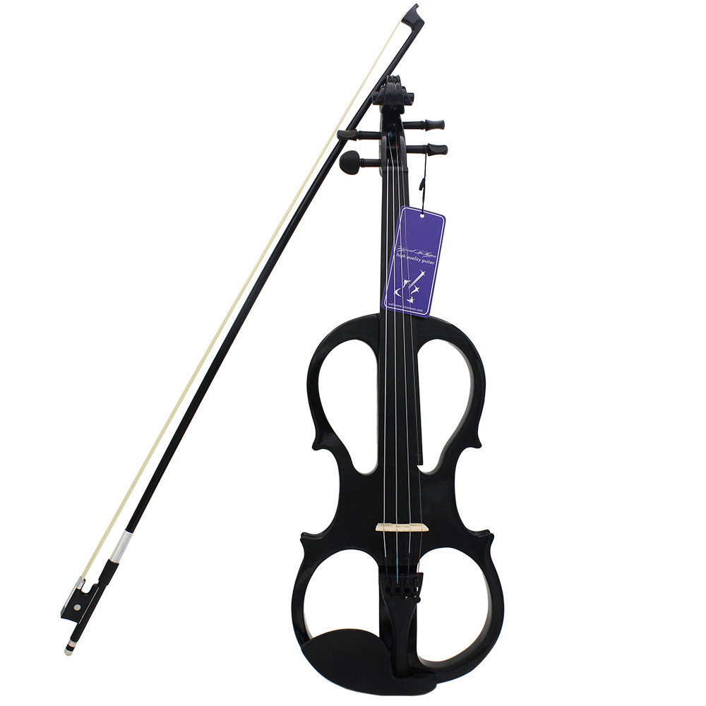 Zebra 4/4 Electric Violin Fiddle Stringed Instrument For Musical Instruments Lovers Gift 4 4 high quality 5 string electric violin yellow 2 pickup violin