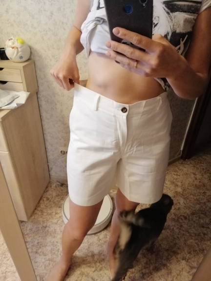 Solid Casual Women'S Shorts High Waist Pockets Casual Summer Shorts Chic S Xxl Ladies Bottom photo review