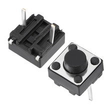UXCELL 50PCS Switches 6x6x5mm Panel Mini/Micro/Small Switch PCB Momentary Tactile Tact Push Button DIP Electrical