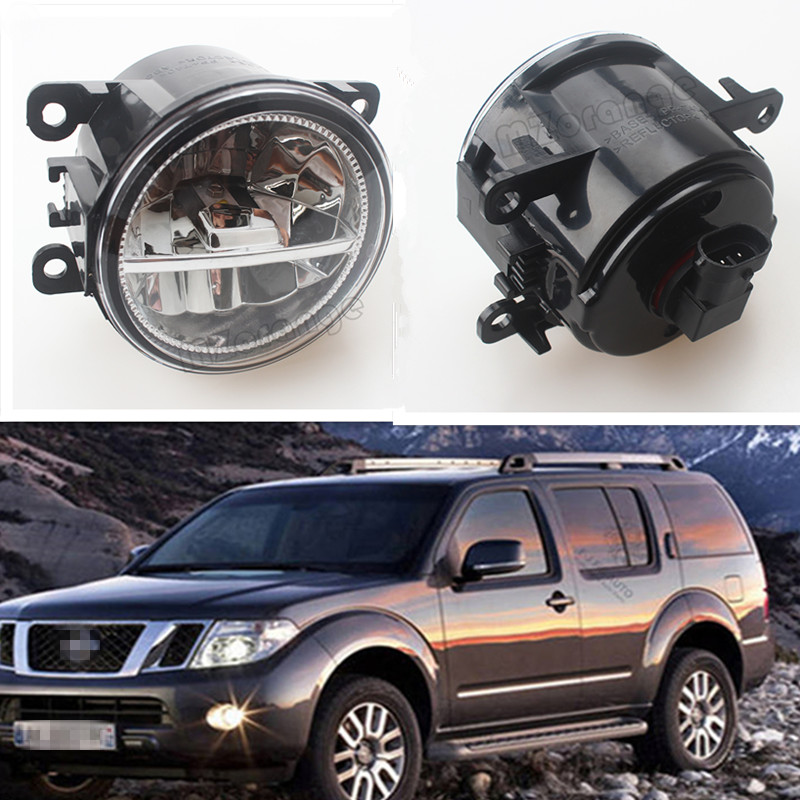For NISSAN Navara D40 Pickup 2005-2015 Car Styling Front Bumper LED Fog Lights High Brightness Fog Lamps 1 Set for opel astra h gtc 2005 15 h11 wiring harness sockets wire connector switch 2 fog lights drl front bumper 5d lens led lamp