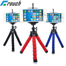 Crouch Phone holder Tripods tripod for phone Mobile camera holder Flexible Octopus Bracket For iPhone Xiaomi Samsung Clip Holder(China)