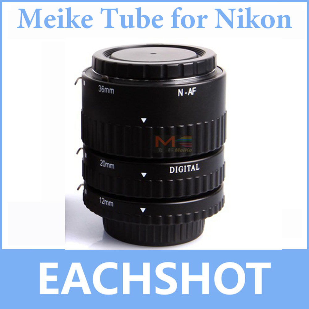 Meike MK-N-AF-B mise au point automatique AF Macro Extension Tube Set mise au point automatique pour Nikon D3400 D5300 D7200 D850 D5500 D5600 D750 appareil photo reflex numérique