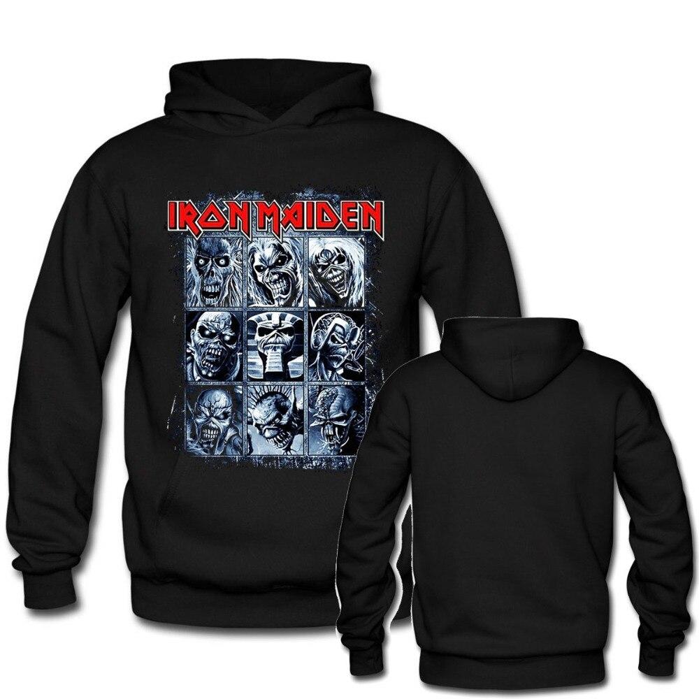 Iron Maiden тяжелый рок Для мужчин женский, черный Толстовки пользовательских металла панк Пуловеры для женщин Толстовки с капюшоном унисекс пу...