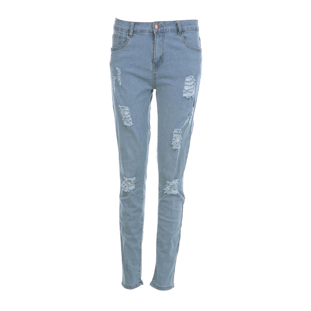 Fashion Men's Ripped Skinny Biker Jeans Destroyed Frayed Slim Fit Denim Pants fashion men s ripped skinny biker jeans destroyed frayed slim fit denim pants