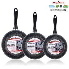 Magefesa Set juego 3 Pans 20-24-28 cm, induction, nonstick STONE free PFOA, dishwasher, manufactured in Spain
