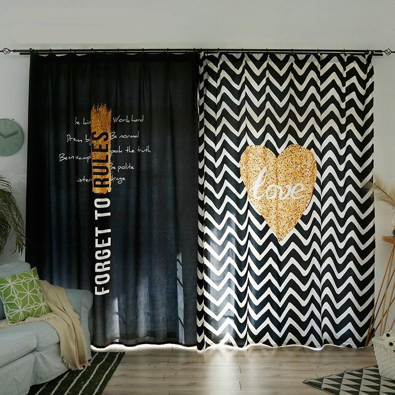 Personal Tailor 2x Window Drapery Nursery Kids Children Room Curtain Window Dressing Tulle Covering 200x260cm Wave Heart Black