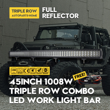 Cree Chips 45INCH LED Work Light Bar 6D 1008W Combo Beam White Source Car Lamp 3-Row For KAMAZ GAZ UAZ 4x4 4wd Styling