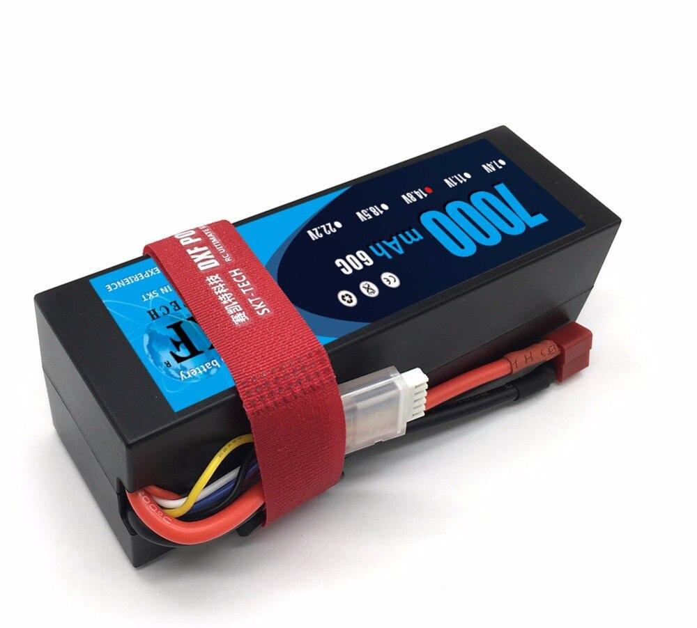 DXF Lipo 4 s batterie 14.8 V 7000 mAh 60C MAX 120C étui rigide pour 1:8 1:10 RC voiture E Buggy Truggy Traxxas voiture