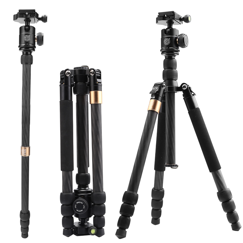 new high purity carbon fiber material digital tripod for DSLR camera &1460mm kamera stative best choice for travel send DHL image