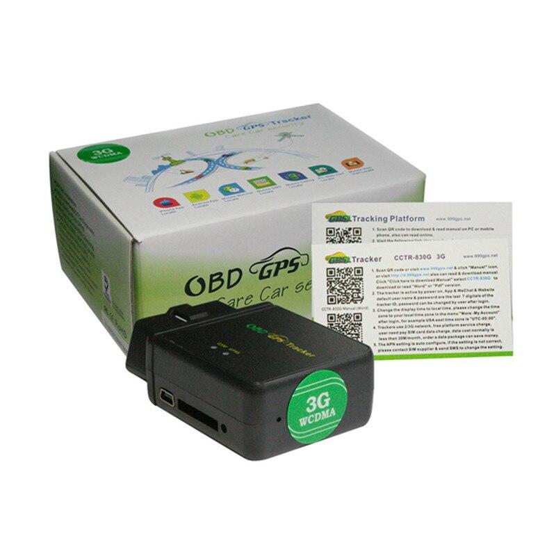 Suivi de voiture OBDII 3G GPS Tracker CCTR-830G WCDMA pas d'installation gratuite IOS Android App suivi en ligne Diagnostic surveillance à distance