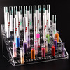 New Clear Acrylic 6 Layers 60 Holes Lipstick Holder Nail Polish Rack Cosmetic Organizer Desktop Makeup