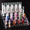 New Clear Acrylic 6 Layers 60 Holes Lipstick Holder Nail Polish Rack Cosmetic Organizer Desktop Makeup