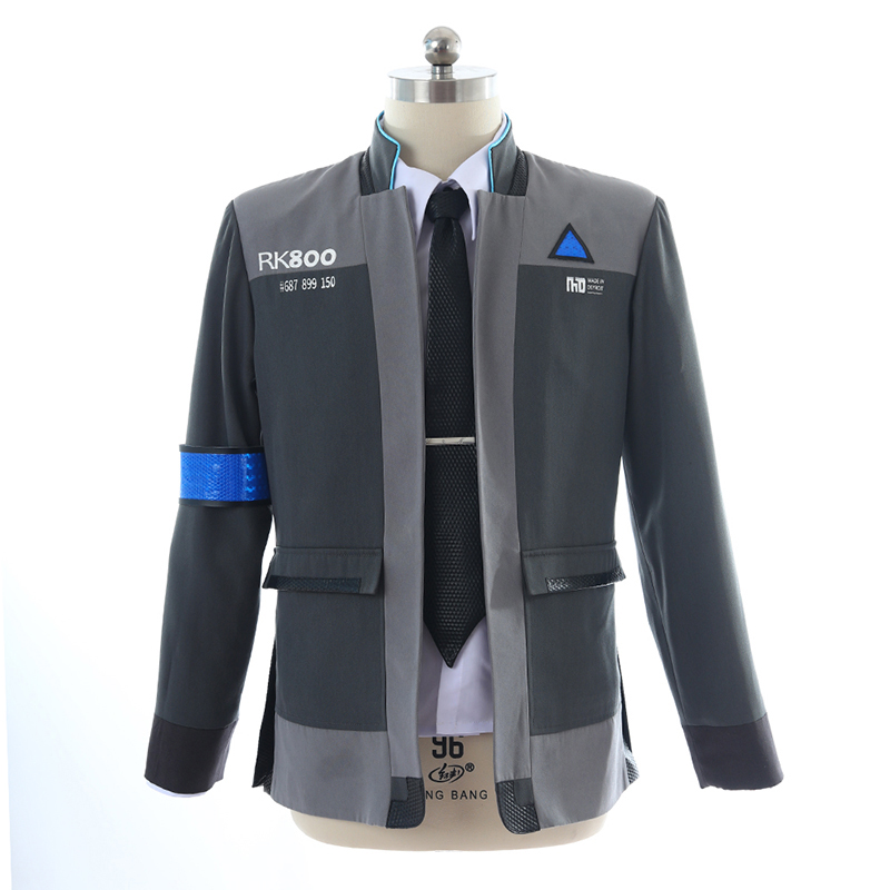 Game Detroit: Become Human Connor RK800 Agent Suit Uniform Tight Unifrom Cosplay Costume Customizable for Halloween