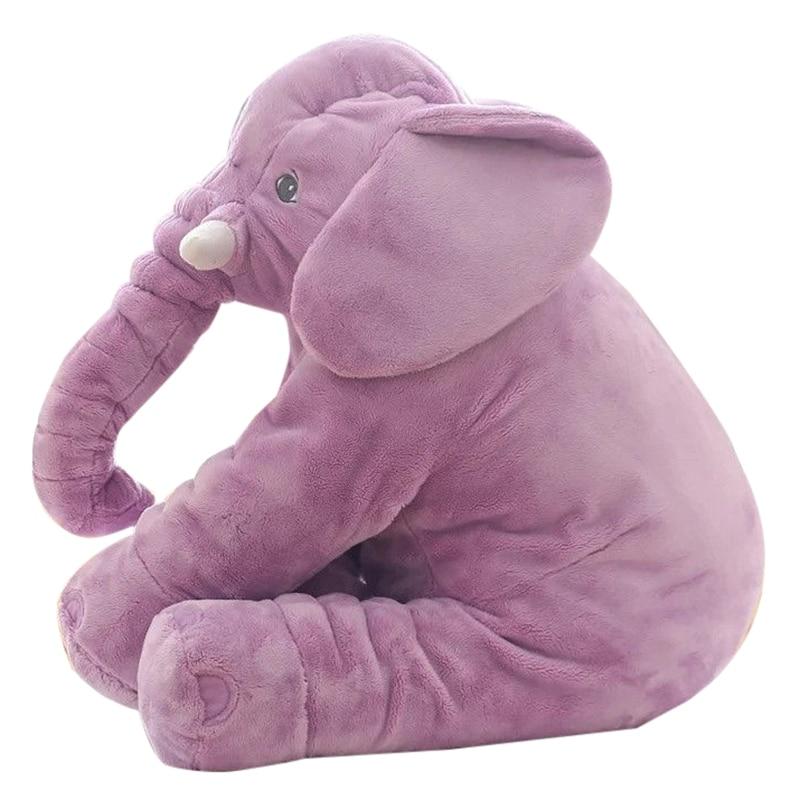 New Baby Children Long Nose Elephant Doll Pillow Plush Stuff Toys Lumbar Pillow 3 Colors
