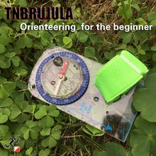 Orienteering compass for the beginner bdirectional Crossing Beginners Compass family treasure hunt activity equipment compass цена