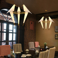 Modern Origami Crane Bird Pendant Light Nordic Style Creative Design Personality Lamp Hanging Hotel Hall Parlor Bedroom Bar