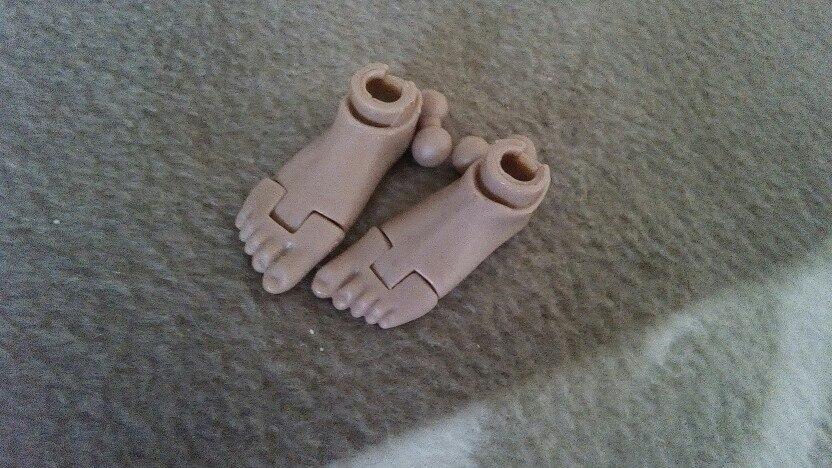 1//6 Echelle Pieds Nus Connecteur en Plastique Composant pour Figurine