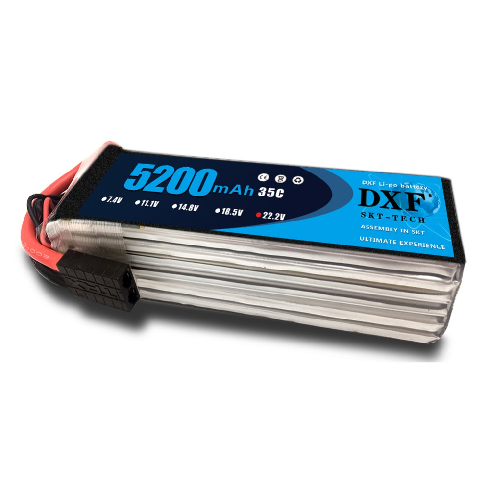 DXF 6S Lipo Battery 22.2V 5200mah 35C Max 70C For Helicopter RC Model Airplane Quadcopter DroneDXF 6S Lipo Battery 22.2V 5200mah 35C Max 70C For Helicopter RC Model Airplane Quadcopter Drone