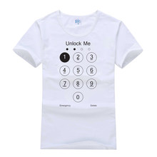 ba5e22f8f 2018 Fashion Summer Design Funny Unlock Me T shirt Phone Screen Top Tee  Shirts Cotton Cool Tshirt Lovely For Women Men US Size