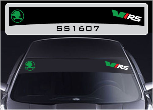 for Skoda VRS sun strip graphics stickers decals sunstrip Fabia Octavia hiper vrs