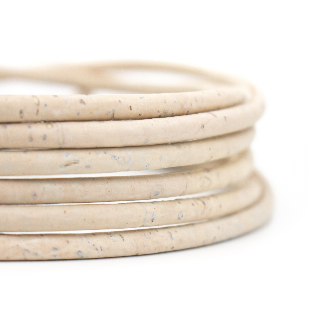 10meter 5mm round white cork cord Portuguese natural cork wholesale jewelry supplies /Findings COR-165-10