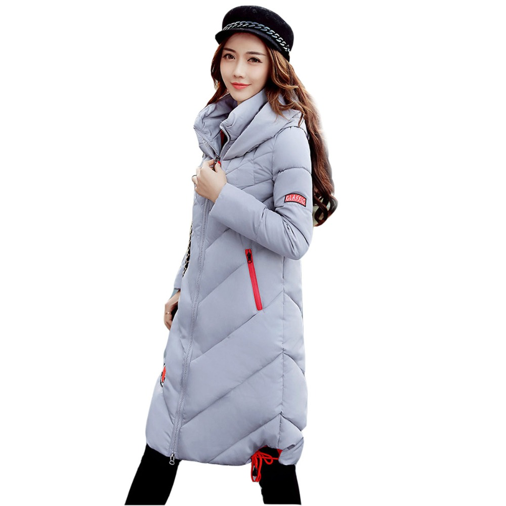 Women Winter Jackets And Coats Placket Zipper Warm And Cold Resistance Drawstring Hooded Windproof Parka