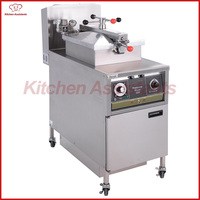 PFG500 gas manual panel chicken pressure fryer for fried chicken potato with oil pump